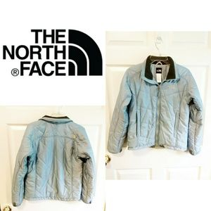 The North Face Light Blue Puffer Jacket Size Small